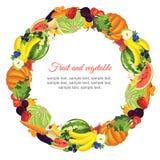 Γιρλάντα φρούτων και λαχανικών Στοκ εικόνα με δικαίωμα ελεύθερης χρήσης