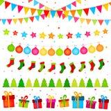 Γιρλάντες διακοσμήσεων Χριστουγέννων Στοκ φωτογραφία με δικαίωμα ελεύθερης χρήσης