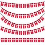 γιρλάντες με τα δανικά εθνικά χρώματα ελεύθερη απεικόνιση δικαιώματος