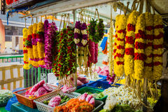 Γιρλάντες την σε λίγη Ινδία Στοκ Εικόνες