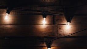 Γιρλάντες των φω'των Ντεκόρ νύχτας Weding απόθεμα βίντεο