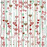 Γιρλάντες Χριστουγέννων με τις καρδιές Στοκ εικόνα με δικαίωμα ελεύθερης χρήσης