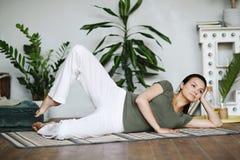 Γιόγκα workout στοκ εικόνες
