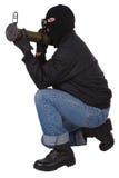 Γκάγκστερ με το εκτοξευτή χειροβομβίδων μπαζούκας Στοκ Φωτογραφίες