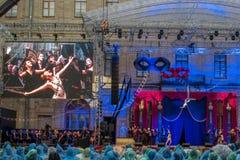Γκάτσινα, Αγία Πετρούπολη, Ρωσία - 18 Ιουνίου 2017: Σκηνή από τον κ. οπερέτας Χ Η παρουσίαση πραγματοποιήθηκε Στοκ Εικόνες