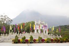 Γκέιτς στο Po Lin μοναστήρι στο νησί Lantau Χογκ Κογκ Στοκ Φωτογραφίες