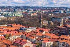 Γκέτεμπουργκ, Σουηδία - 14 Απριλίου 2017: Πανόραμα της παλαιάς πόλης Στοκ φωτογραφία με δικαίωμα ελεύθερης χρήσης