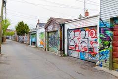 Γκαράζ και γκράφιτι στο Τορόντο Στοκ Φωτογραφίες