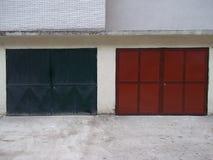 γκαράζ δύο πορτών Στοκ Εικόνα
