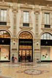 Γκαλερί τέχνης αγορών στο Μιλάνο Galleria Vittorio Emanuele ΙΙ, αυτό στοκ εικόνα