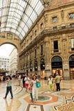 Γκαλερί τέχνης αγορών στο Μιλάνο Galleria Vittorio Emanuele ΙΙ, αυτό στοκ εικόνες με δικαίωμα ελεύθερης χρήσης