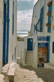 Γκαλερί τέχνης σε Sidi Bou εν λόγω Στοκ Φωτογραφίες