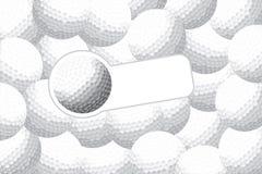 γκολφ ανασκόπησης Στοκ Φωτογραφία