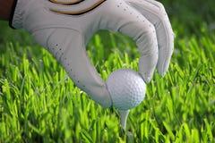 γκολφ γαντιών σφαιρών Στοκ Φωτογραφίες