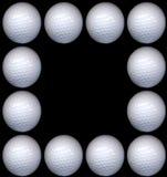 γκολφ πλαισίων σφαιρών στοκ φωτογραφία