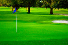 γκολφ πράσινο Στοκ φωτογραφία με δικαίωμα ελεύθερης χρήσης