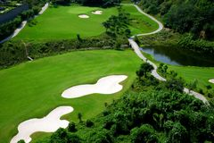 γκολφ σειράς μαθημάτων στοκ εικόνα