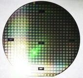 Γκοφρέτα πυριτίου, πολλαπλάσια τσιπ υπολογιστή Στοκ Φωτογραφία