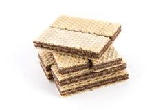 Γκοφρέτες με τη σοκολάτα Στοκ εικόνα με δικαίωμα ελεύθερης χρήσης