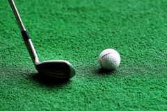 Γκολφ κλαμπ και σφαίρα Στοκ Εικόνα