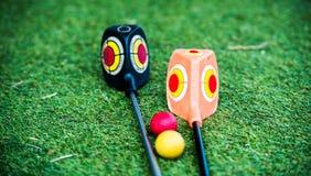 Γκολφ κλαμπ σε μια χλόη Στοκ φωτογραφίες με δικαίωμα ελεύθερης χρήσης
