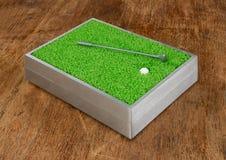 Γκολφ παιχνιδιών στο ξύλινο υπόβαθρο Στοκ φωτογραφία με δικαίωμα ελεύθερης χρήσης