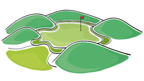 Γκολφ πράσινο Στοκ Εικόνα
