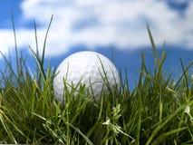 γκολφ σφαιρών που χτυπά την κίνηση σιδήρου Στοκ Φωτογραφία