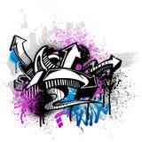 γκράφιτι ανασκόπησης Στοκ φωτογραφία με δικαίωμα ελεύθερης χρήσης