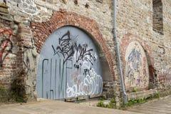 Γκράφιτι από την πόλη του Κεμπέκ Στοκ φωτογραφία με δικαίωμα ελεύθερης χρήσης