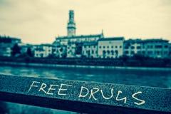 Γκράφιτι ελεύθερων φαρμάκων Στοκ Εικόνες