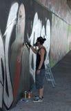 γκράφιτι καλλιτεχνών Στοκ φωτογραφία με δικαίωμα ελεύθερης χρήσης
