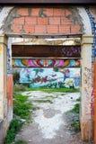 Γκράφιτι κατωφλιών Στοκ εικόνα με δικαίωμα ελεύθερης χρήσης