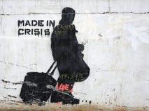 Γκράφιτι κρίσης Στοκ φωτογραφία με δικαίωμα ελεύθερης χρήσης