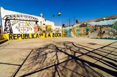 Γκράφιτι Λα Boca Στοκ εικόνα με δικαίωμα ελεύθερης χρήσης