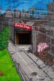 Γκράφιτι παράδοσης οδών Στοκ φωτογραφίες με δικαίωμα ελεύθερης χρήσης