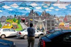 Γκράφιτι παράδοσης οδών Στοκ φωτογραφία με δικαίωμα ελεύθερης χρήσης