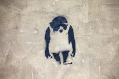 Γκράφιτι πιθήκων Στοκ Εικόνες