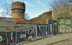 Γκράφιτι πνεύματος τουβλότοιχος Στοκ Εικόνα
