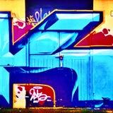 Γκράφιτι πορτών Στοκ φωτογραφίες με δικαίωμα ελεύθερης χρήσης