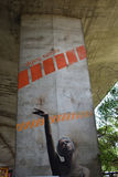 Γκράφιτι που δημιουργούνται ενδιαφέροντα από τους ανεμιστήρες της λέσχης ποδοσφαίρου Legia Βαρσοβία Στοκ εικόνες με δικαίωμα ελεύθερης χρήσης
