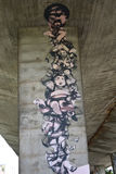 Γκράφιτι που δημιουργούνται ενδιαφέροντα από τους ανεμιστήρες της λέσχης ποδοσφαίρου Legia Βαρσοβία Στοκ φωτογραφία με δικαίωμα ελεύθερης χρήσης