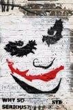 Γκράφιτι προσώπου πλακατζών Στοκ φωτογραφία με δικαίωμα ελεύθερης χρήσης