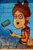 Γκράφιτι σε έναν ανταγωνισμό Στοκ Εικόνα