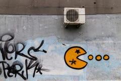 Γκράφιτι σε έναν τοίχο - Βουκουρέστι στοκ φωτογραφίες