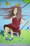 Γκράφιτι σε μια παιδική χαρά παιδιών ` s Στοκ εικόνες με δικαίωμα ελεύθερης χρήσης