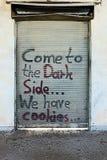 Γκράφιτι σε μια πόρτα Στοκ Εικόνες