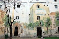 Γκράφιτι σε Skadarlija Στοκ φωτογραφία με δικαίωμα ελεύθερης χρήσης