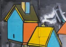 Γκράφιτι σπιτιών Στοκ φωτογραφίες με δικαίωμα ελεύθερης χρήσης