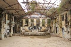 Γκράφιτι στα beatles ashram σε Rishikesh Ινδία Στοκ εικόνα με δικαίωμα ελεύθερης χρήσης